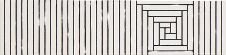 Marina Black Stripes 7,4 x 29,75