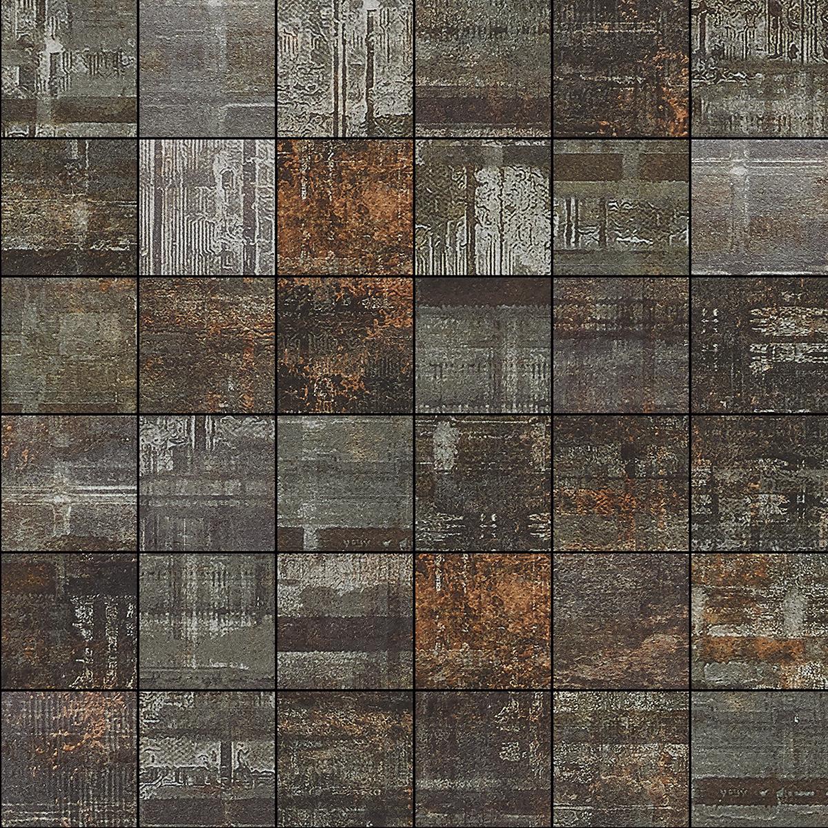 Hammerman Antracite Mosaic 30 x 30