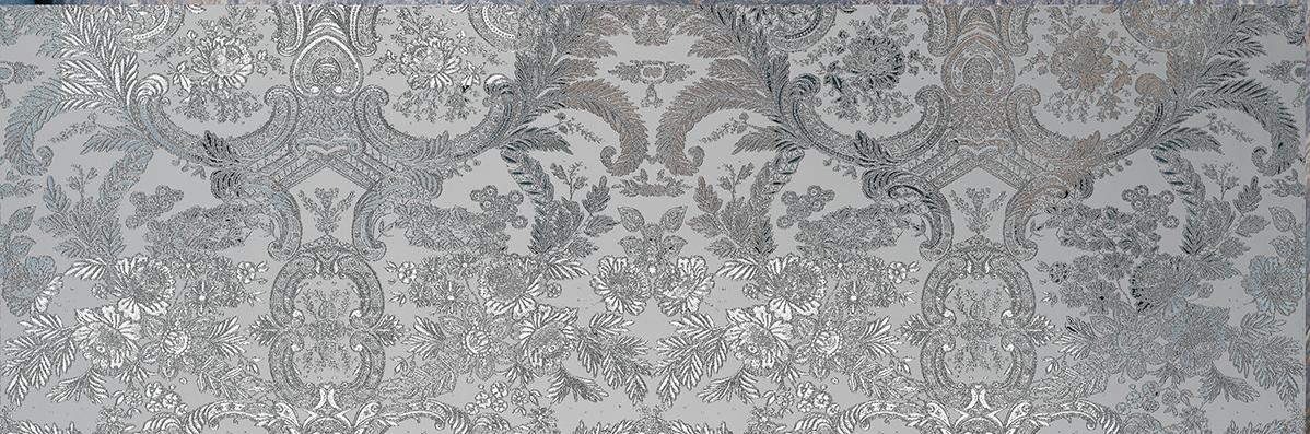 Decorado Ottocento Silver 31,6 x 95,3
